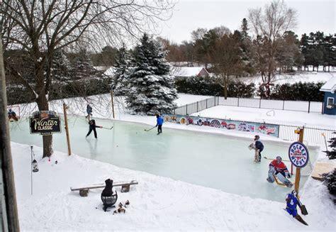 Making Backyard Hockey Rink