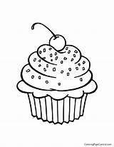 Cupcake Coloring Print sketch template