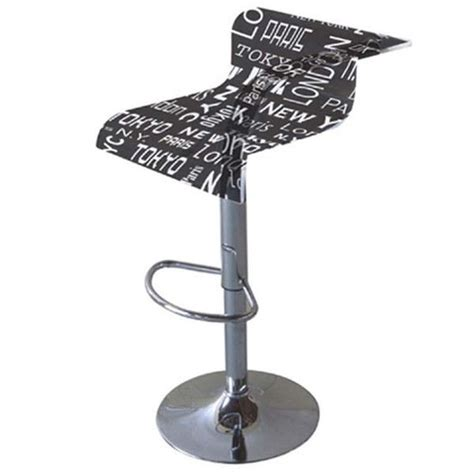 tabouret de bar york tabouret bar t 233 lescopique d 233 cor new york achat vente tabouret de bar m 233 tal plexiglas