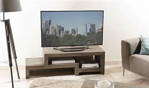 Meuble Tv Bois Massif Moderne : meuble de tv moderne en bois massif design en escalier ~ Teatrodelosmanantiales.com Idées de Décoration