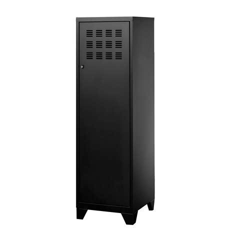 vestiaire industriel 1 porte vestiaire 1 porte serrure longueur 40 x hauteur 134cm acier steel noir