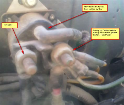 auto  starter wiring chilton shows redlt