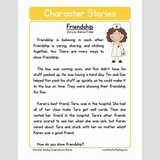 Friendship Character Reading Comprehension Worksheet