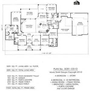 custom home floor plans free 3091 0310 square narrow lot house plan