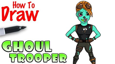 How To Draw The Ghoul Trooper  Fortnite Youtube