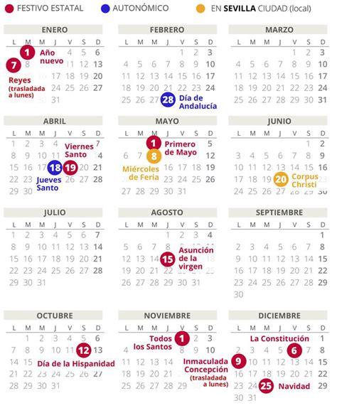 calendario laboral de sevilla del todos los festivos