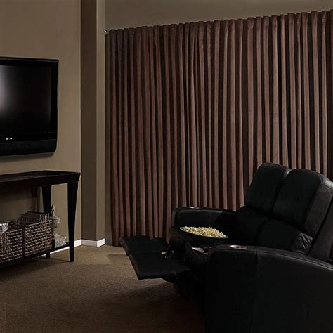 Absolute Zero Curtains Walmart absolute zero velvet blackout home theater curtain panel