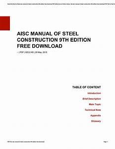 Manual Of Steel Construction Pdf Download  Setc18 Org