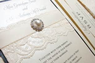 wedding invitations with pictures lace wedding invitations