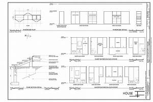 Bathroom Elevations Wardrobe Plans Details Stair Section