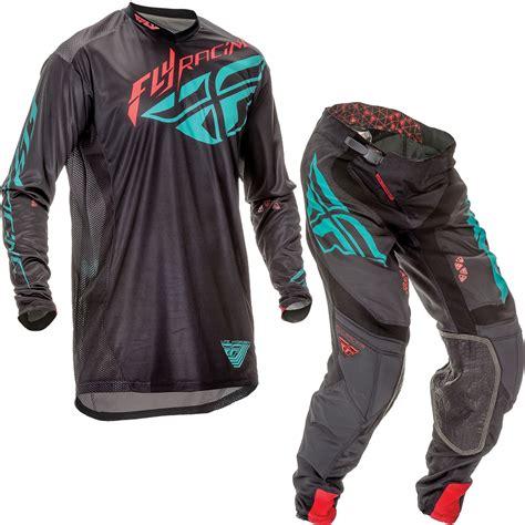 fly motocross jersey fly racing 2016 lite hydrogen black teal motocross kit