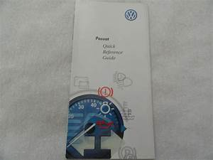 2001 Vw Volkswagen Passat Quick Reference Guide Owners