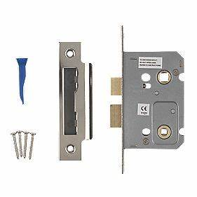 Smith locke bathroom mortice lock polished chrome 65 x for How to fix a bathroom door lock