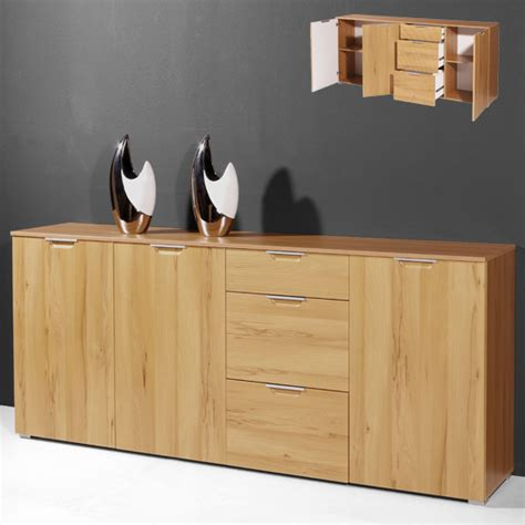 Beech Sideboard by Buffet Sideboard In Beech With 3 Doors And 3