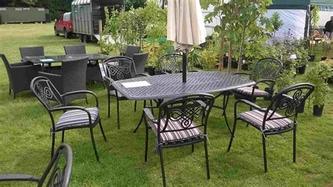 Metal Outdoor Furniture by Modern Outdoor Ideas Small Metal Garden Table White Dining