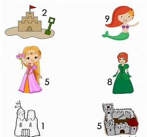 Number Bonds To 10 Worksheet With Castles And Princesses
