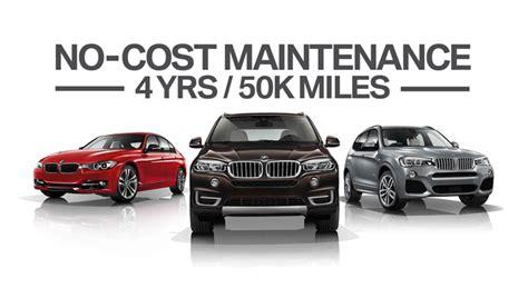 bmw  cost maintenance update  car service warranty