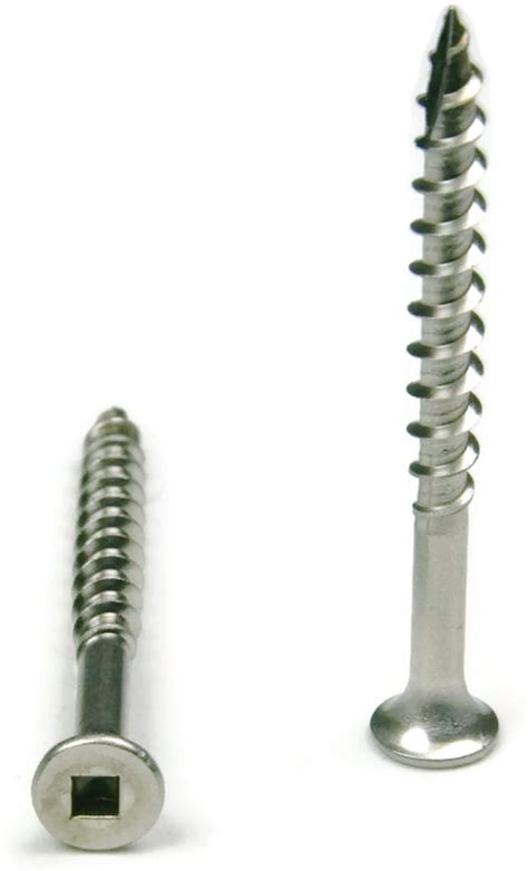 deck fasteners vs screws stainless steel deck screws square drive wood 10 x 3 quot qty