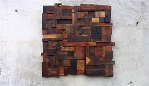 Décoration Murale En Bois : d coration murale composition abstraite en vieux bois ~ Dailycaller-alerts.com Idées de Décoration