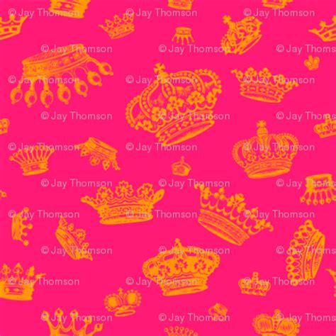 royal crowns gold  hot pink wallpaper lavaguy
