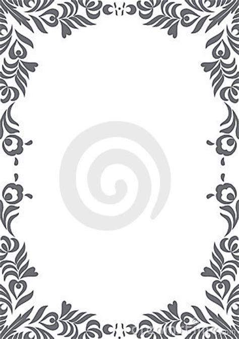 decorative black  white border royalty  stock