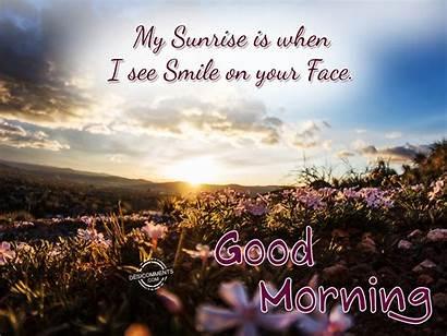 Morning Sunrise Smile Face Desicomments Quotes Goodmorning