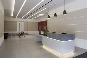 Fascinating office reception area decor ideas with modern for Office reception lighting design