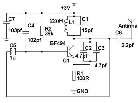 simple mobile phone jammer circuit diagram electronic