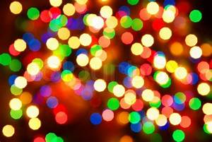 Abstract christmas lights as background on black Stock