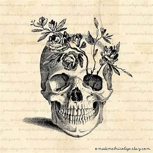 25+ best ideas about Flower Skull Tattoos on Pinterest