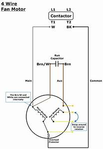 Fan Motor Capacitor Wiring Diagram