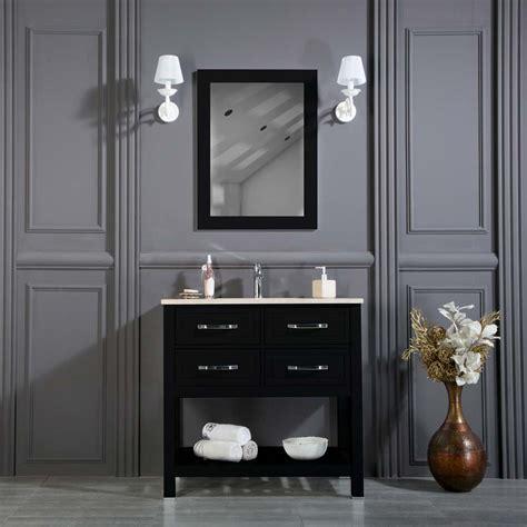 fawio 36 black bathroom cabinet ottohomegoods