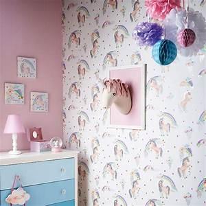 Regenbogen Tapete Kinderzimmer : regenbogen einhorn glitzer tapete rolls wei arthouse 696109 m dchen ebay ~ Sanjose-hotels-ca.com Haus und Dekorationen