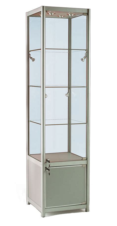 used lockable glass display cabinets glass display cabinet or showcase higgins ie