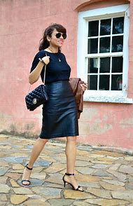 Leather Skirt Street-Style