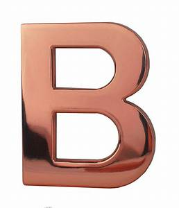 copper letters With copper metal letters