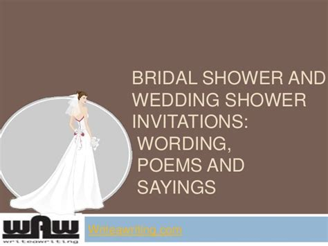 Marriage Advice Quotes For Bridal Shower by Bridal Shower And Wedding Shower Invitations Wording