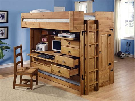bunk bed with computer desk full loft bed with creative storage and computer desk