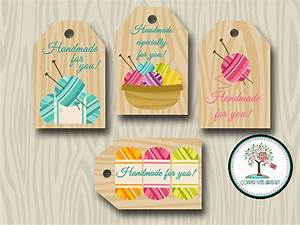 Handmade for you tags hand knit gift tags favor tags yarn for Hand knit labels