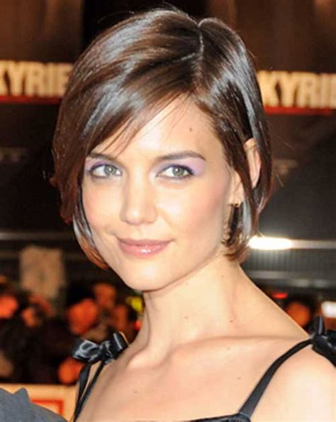 sleek katie holmes bob haircuts crazyforus