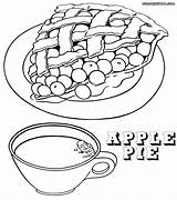 Pie Coloring Apple Pages Tea Kraken Template Print Orchard Sheet Printable Emoji Getdrawings Slice Cup Sketch Popular Getcolorings Pizza Food sketch template