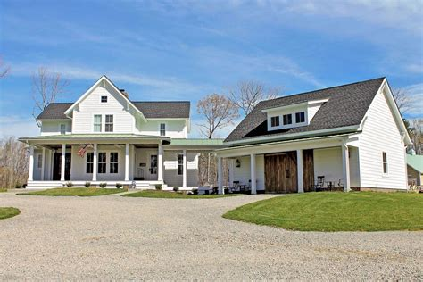 homes with detached garage quintessential american farmhouse with detached garage and