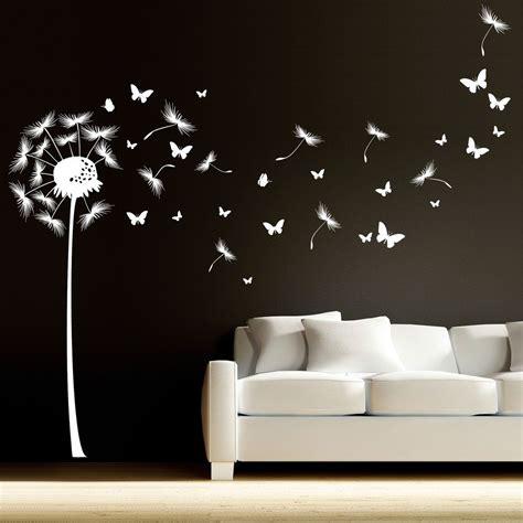 Wandtattoo Kinderzimmer Mädchen by Pusteblume Mit Vielen Schmetterlingen Und Pollen In 2019