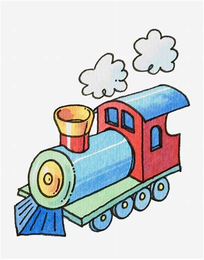 Steam Train Cartoon Clipart Illustrations