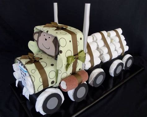 semi truck diaper cake wwwfacebookcomdiapercakesbydiana