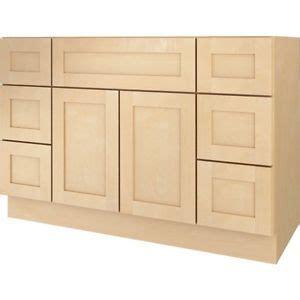 18 inch deep base cabinets unfinished bathroom vanity drawer base cabinet natural maple shaker