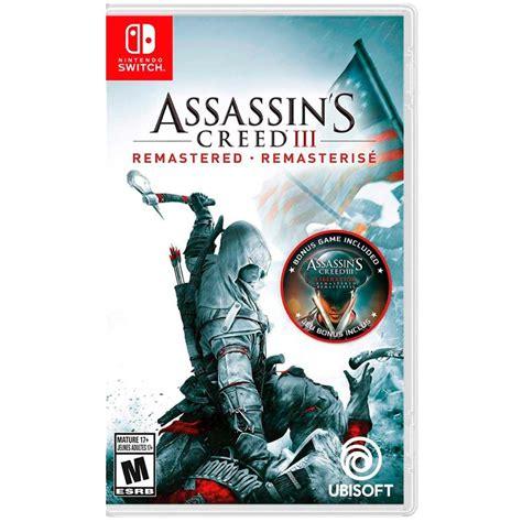 Encuentra juegos nintendo switch de segunda mano desde $ 2.000. Juego Nintendo Switch AssassinS Creed III Remastered ⇒ Mejor Precio【2021】
