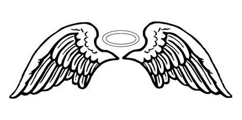angel halo tattoo designs wing