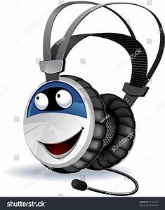 Headphones, Character, The, Series, Of, The, Cute, Electronic, Characters, In, Vector