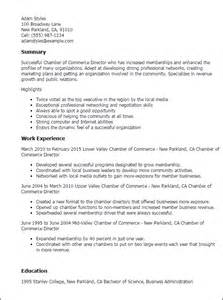 Supervisor Resume Templates Professional Chamber Of Commerce Director Templates To Showcase Your Talent Myperfectresume